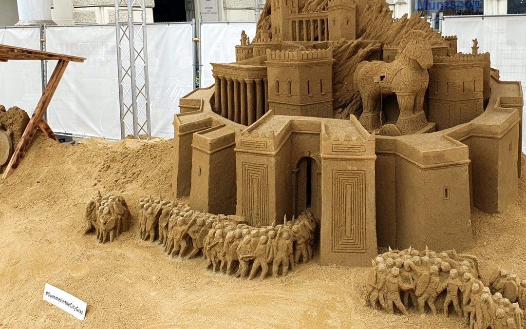 Sandskulpturen am Grazer Hauptplatz